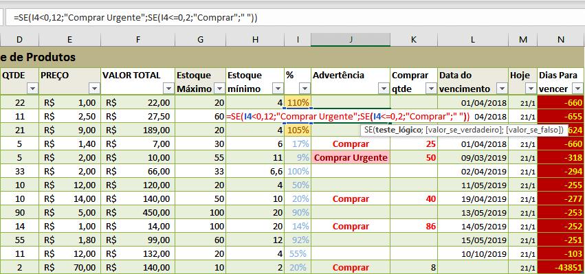 Fazer Planilhas de Excel Com Fórmulas