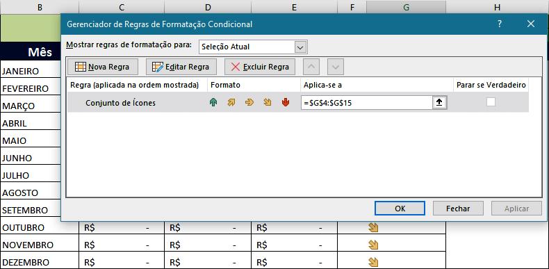 Formatação Condicional na Planilha de Excel Usando Fórmulas