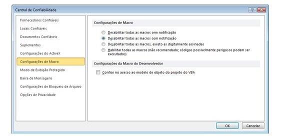 Como usar a Macro no Microsoft Office Excel 2007
