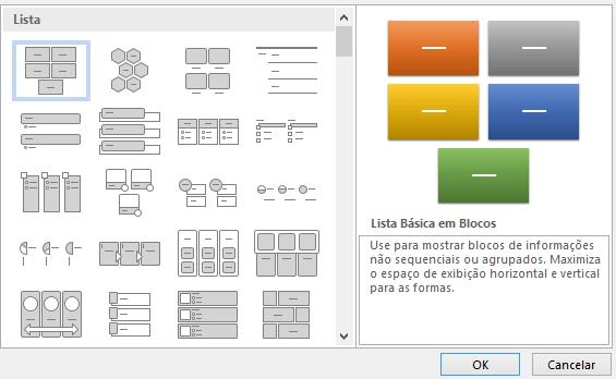 Definição para Elementos Gráficos SmartArt
