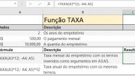 Função TAXA do Excel