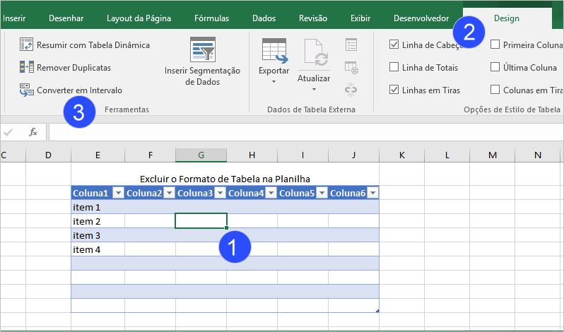 Excluir uma Tabela de Excel Sem Perder a Formatação