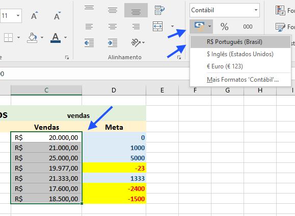 Formato de Número Personalizado em uma Célula