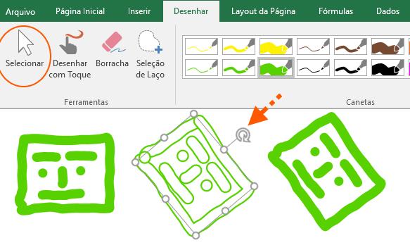 Aplicar alterações no desenho do Excel