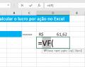 Calcular o lucro por ação no Excel