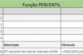 Função PERCENTIL do Excel