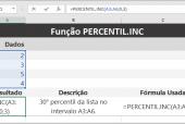 Função PERCENTIL.INC do Excel