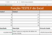 Função TESTE.F do Excel
