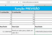 Função PREVISÃO do Excel