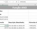 Função ANO do Excel