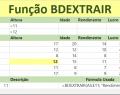 Função BDEXTRAIR do Excel