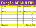 Função BDMULTIPL do Excel