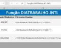 Função DIATRABALHO.INTL do Excel