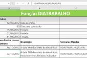Função DIATRABALHO no Excel