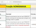 Função NÚMSEMANA do Excel