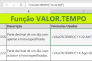 Função VALOR.TEMPO do Excel