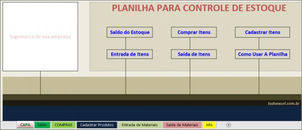 Planilha de Controle de Estoque
