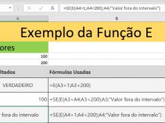 Função E do Excel determina condição verdadeira