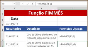 Função FIMMÊS do Excel saiba como usar