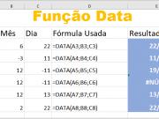 Função DATA do Excel e detalhes técnicos