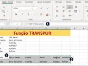 Função TRANSPOR do Excel como usar