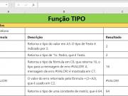 Função TIPO do Excel como usar