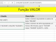 Função VALOR como usar no Excel