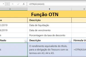 Função OTN do Excel com exemplo prático
