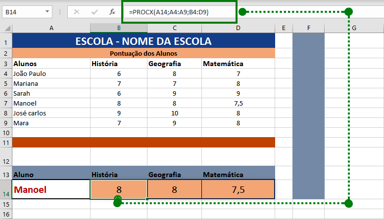 Função PROCX do Excel Como Aprender Passo a Passo