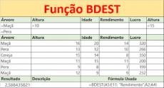 Função BDEST do Excel Banco de dados