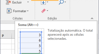 Como Usar o Recurso AutoSoma no Excel