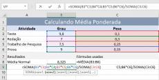 Como Calcular Médias Ponderadas no Excel