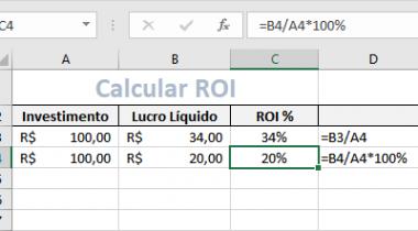 Como Calcular ROI no Excel