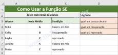 Como usar a Função SE em planilhas do Excel