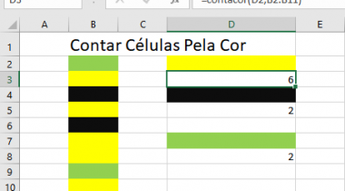 Contar Células na Planilha de Excel pela Cor
