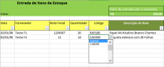 Planilha para Controle de Estoque no Excel