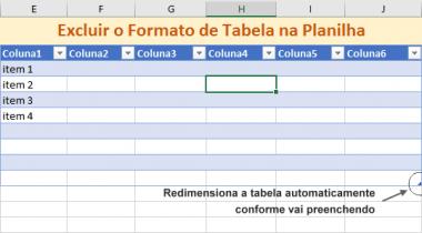 Como Excluir uma Tabela de Excel Sem Perder os Dados e a Formatação