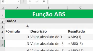 Função ABS do Excel – Matemática e Trigonométrica
