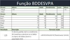 Função BDDESVPA no Excel – Banco de Dados
