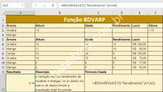 Como é a Função BDVARP do Excel