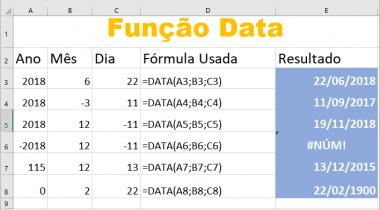 Função DATA no Excel – Veja Exemplos