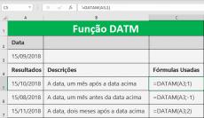 Função DATAM calcula a data de liquidação