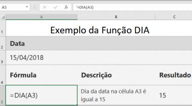 Função DIA do Excel saiba como usar