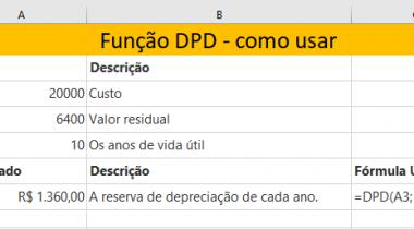 Como Montar a Função DPD do Excel