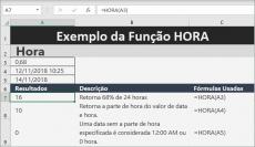 Função HORA no Excel saiba como usar