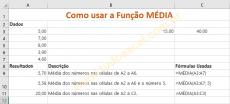 Função MÉDIA do Excel como Usar
