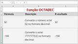 Função OCTADEC do Microsoft Excel