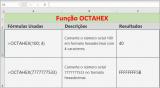 Função OCTAHEX do Excel como usar