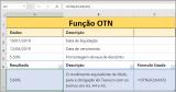 Função OTN do Excel – exemplo prático