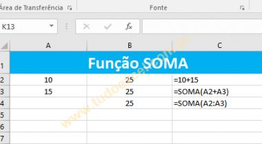 Como Usar a Função SOMA no Excel